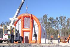 Origin Energy Blasting Booth 1